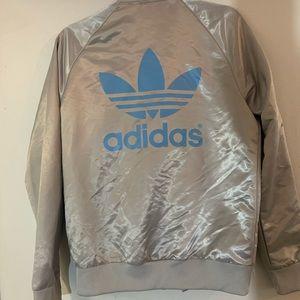 Silver Adidas jacket